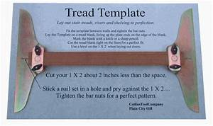 Collins tool company stair tread template set tools for Stair tread template tool