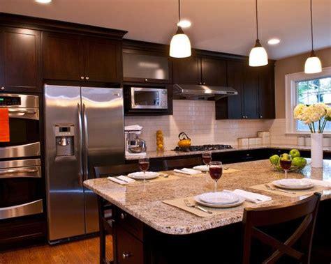 dark cabinets light granite like the dark cabinets light granite kitchen ideas