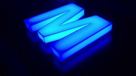 opal acrylic built  sign letter  internal rgb led lighting  signsmadehere youtube
