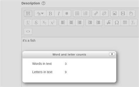 moodle plugins directory word count