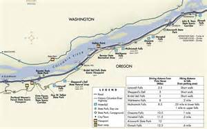 Columbia River Gorge Highway Map
