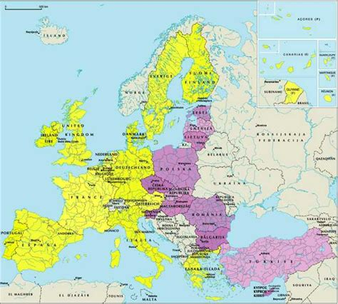 national euro information web sites map  europe
