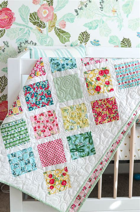 baby quilt patterns lattice baby quilt tutorial
