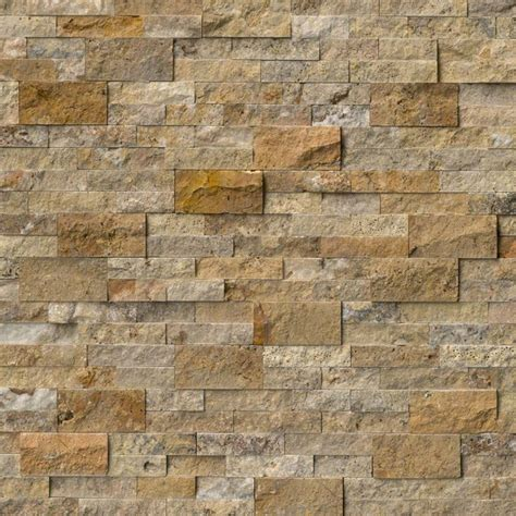 stacked travertine turkish tuscany scabas stacked stone split face 6x24 travertine hardscape modern wall