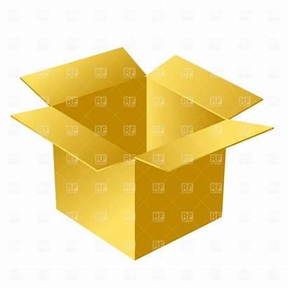 Box Clipart Open Cardboard Clip Clipartpanda Vector