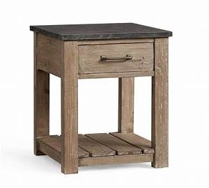 parker reclaimed wood side table pottery barn au With reclaimed wood coffee table and end tables