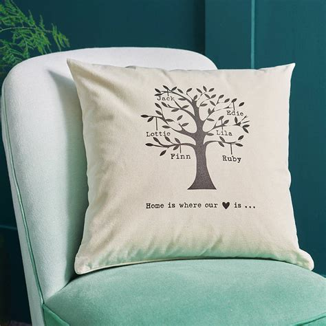 personalised cusion personalised family tree cushion by tillie mint