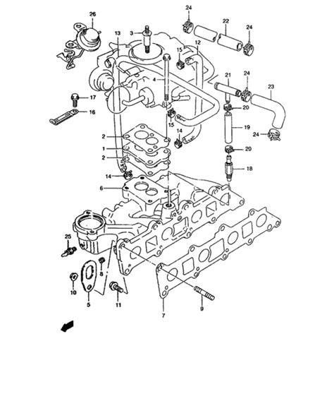 Suzuki Samurai Intake Manifold by Intake Manifold For Suzuki Samurai Sj413 Pacific Sales