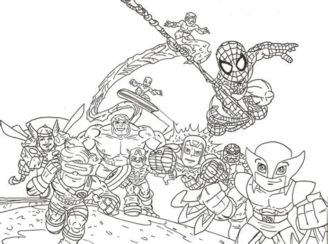 super hero squad fantasy coloring pages