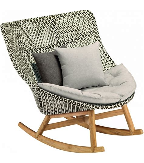 chaise design a bascule mbrace dedon rocking chair milia shop