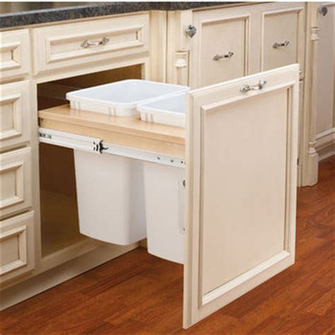 pull out built in trash cans cabinet slide out under