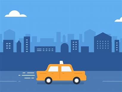 Taxi Drive Driving Animation Dribbble Cars Instructor
