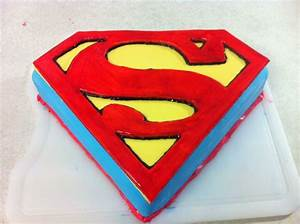superman man of steel cake how to nolan39s 3rd With superman template for cake
