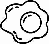 Egg Fried Clipart Clip Silhouette Ham Transparent Drawing Carton Huevo Breakfast Dragon Techflourish Gratis Leche Flan Dulce Iconos Library Icono sketch template