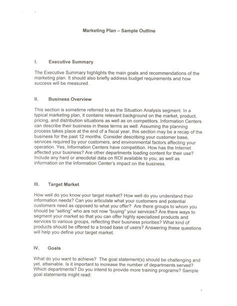 exles of an executive summary marketing plan sle
