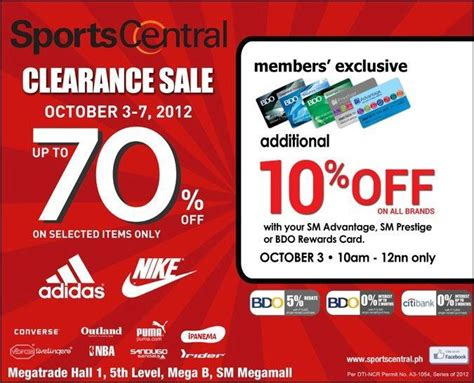 sports central sale sm megamall october 2012 manila on