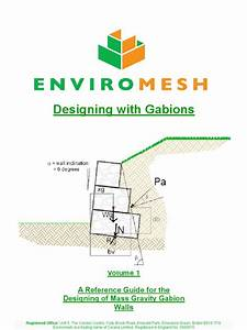 Gabion design manual  soil