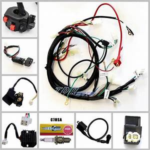 Full Electrics Wiring Harness Cdi Coil Key 150cc Gy6 Atv Quad Bike Buggy Gokart