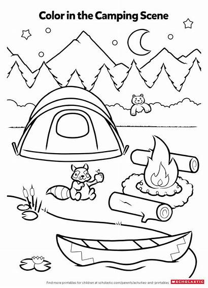 Coloring Activity Pages Camping Worksheets Printables Activities