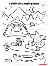 Coloring Activity Pages Camping Worksheets Printables Activities Campfire Preschool Smores Worksheet Theme Fun Scholastic Crafts Sheets Printable Summer Sheet Kindergarten sketch template