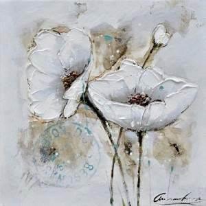 Toile Blanche A Peindre : tableau peinture l 39 huile fleurs des champs couleur ~ Premium-room.com Idées de Décoration