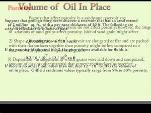 Cubic Meter Conversion Chart Calculate Oil In Place Youtube