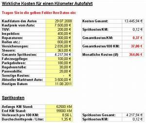 Geldwerter Vorteil Auto Berechnen : wieviel kostet mein auto wirklich im monat und pro km ~ Themetempest.com Abrechnung