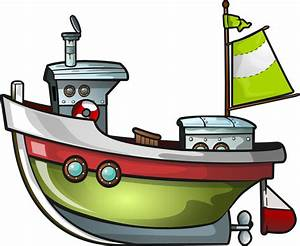 Cartoon Fishing Boat Png