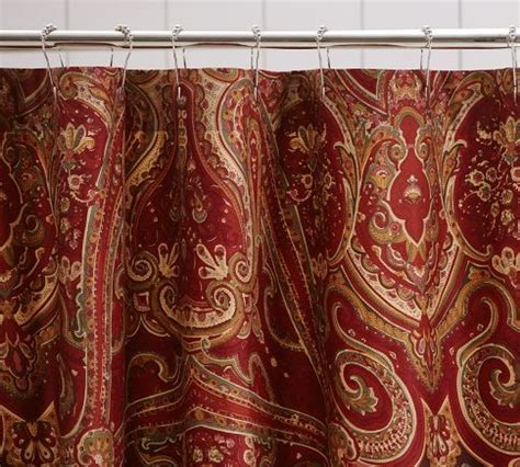 paisley shower curtain pottery barn linens n