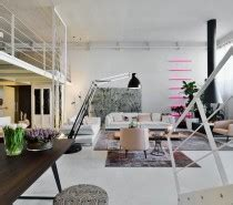 Three Creative Lofts Fit For Stylish Artists by Interior And Furniture Designs Three Colored Loft