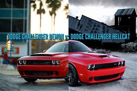 2018 Dodge Challenger Demon Vs Hellcat Differences Side