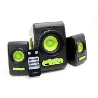sonic gear quatro v usb 2 1 sdu speaker with subwoofer black green lazada ph