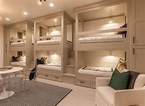 Beige Bedroom with Bunk Beds - Beige Paint - 19 Beautiful