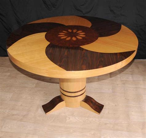 deco inlay dining centre table furniture 1920s