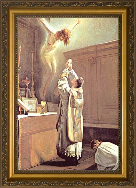 holy sacrifice   mass framed art nelson fine