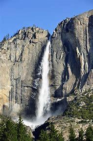 Yosemite National Park Winter Waterfall