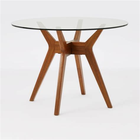 31490 wood dining table glass dining table west elm uk