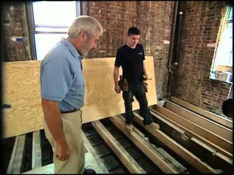 leveling  floor youtube