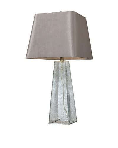 Hgtv Home Clear Seeded Glass Table Lamp