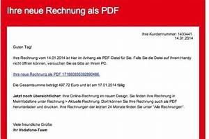 Vodafone Rechnung Email : trojaner angriff falsche rechnungen von vodafone im ~ Themetempest.com Abrechnung