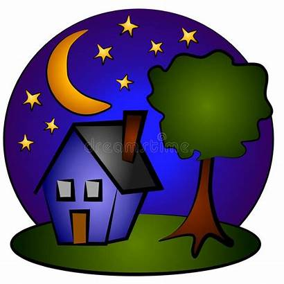 Clip Nighttime Moon Stars Shooting Investment Homes