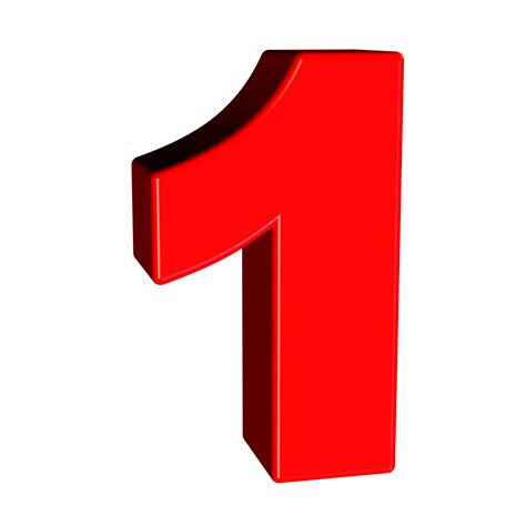 Red Number 1 image  Free stock photo  Public Domain