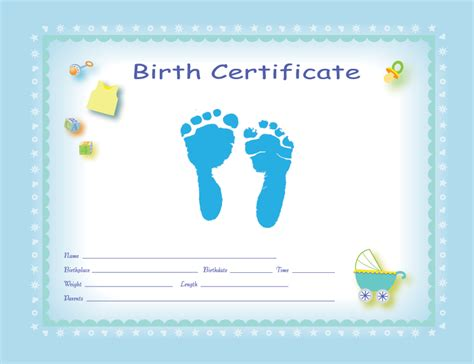 Boy Birth Certificate Template by 27 Images Of Birth Certificate Template Infovia Net