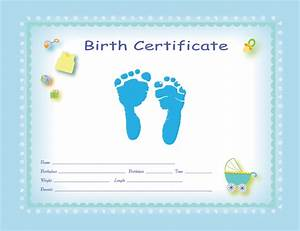 Birth certificate template boy images certificate design for Boy birth certificate template