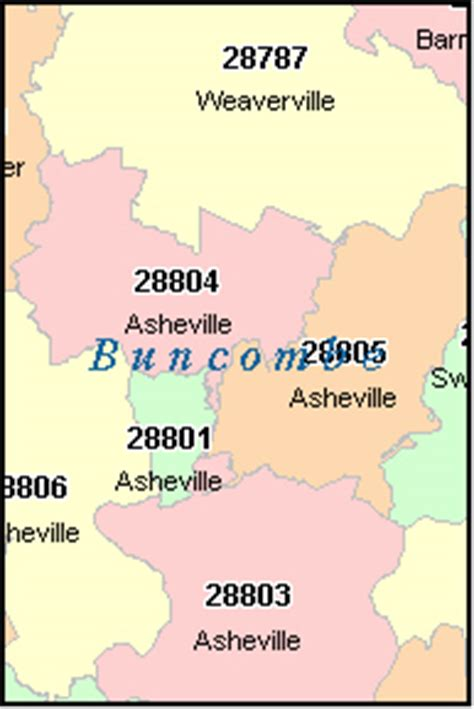 asheville north carolina nc zip code map downloads
