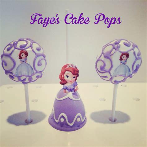 sofia   cake pops disney princess  fayes cake