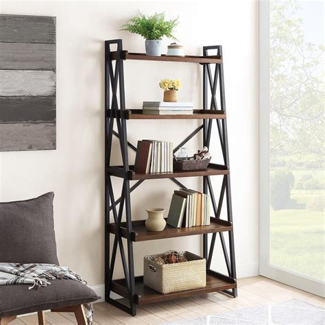 Costco Bayside Bookcase by Bayside Furnishings Ladder Bookcase With 5 Fixed Shelves