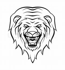 Roaring Lion Face Outline | www.pixshark.com - Images ...