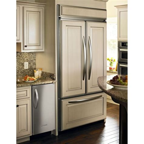 kitchenaid kbfoftx  built  french door refrigerator  glass touch electronic controls