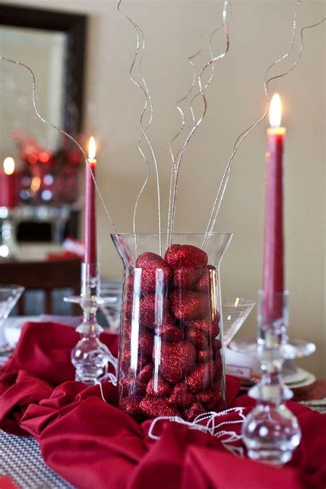 valentines centerpiece   dollar store  red hearts